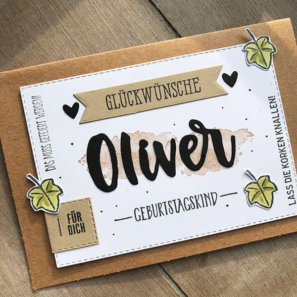 Geburtstagskarte Fur Manner Aus Kraftpapier Stampin Up Karten