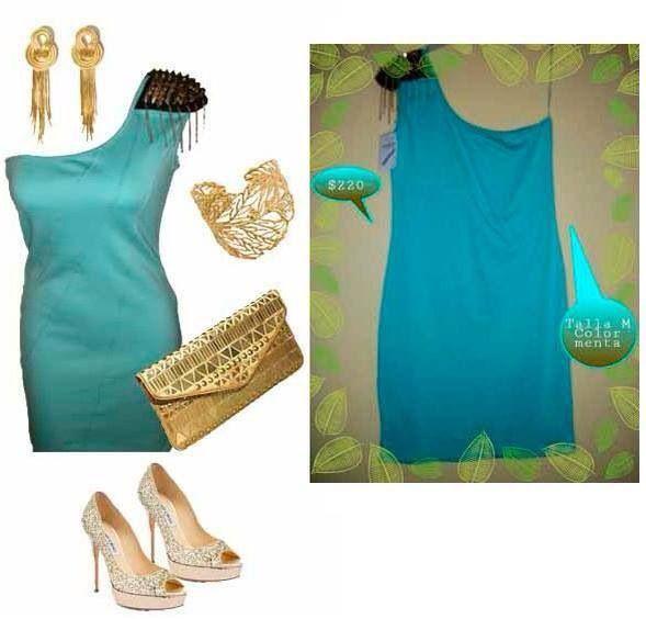 #Outfit #Fiesta #Look #Bella #Menta #Vestido #Q'monito