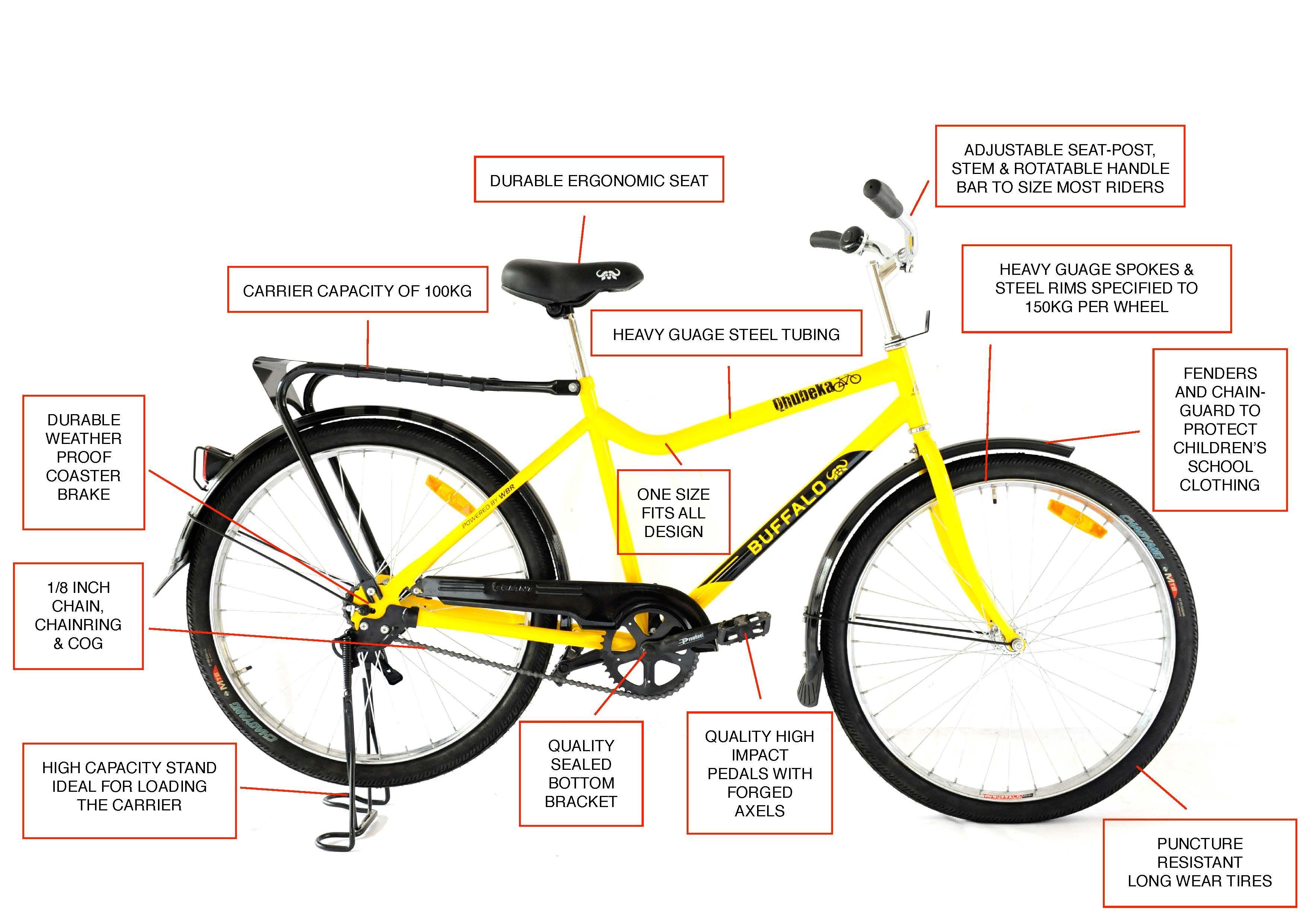 Qhubeka buffalo bicycle diagram designed especially for african conditions qhubeka raises money to distribute