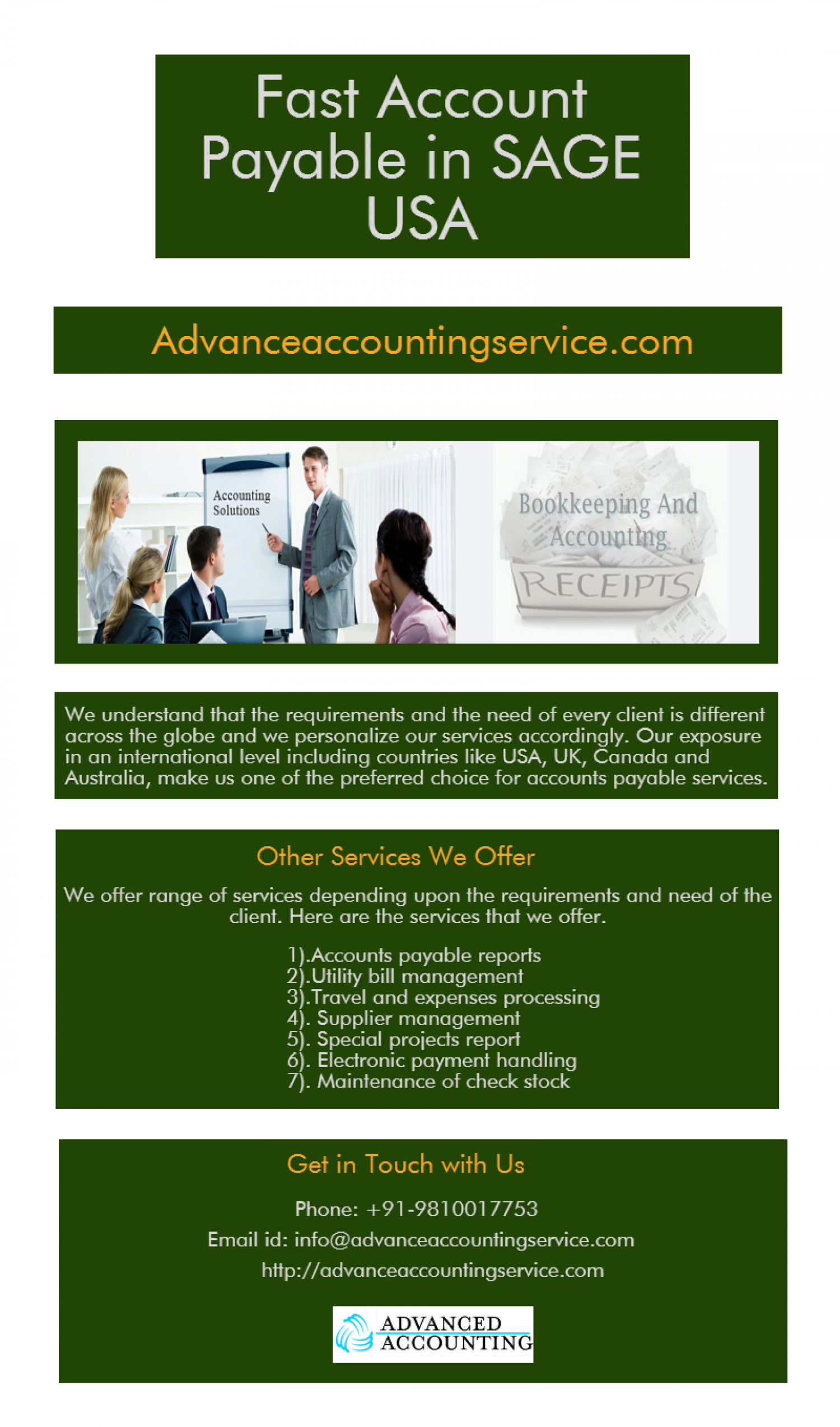 Advance Accounting Service Is World S One Of The Leading