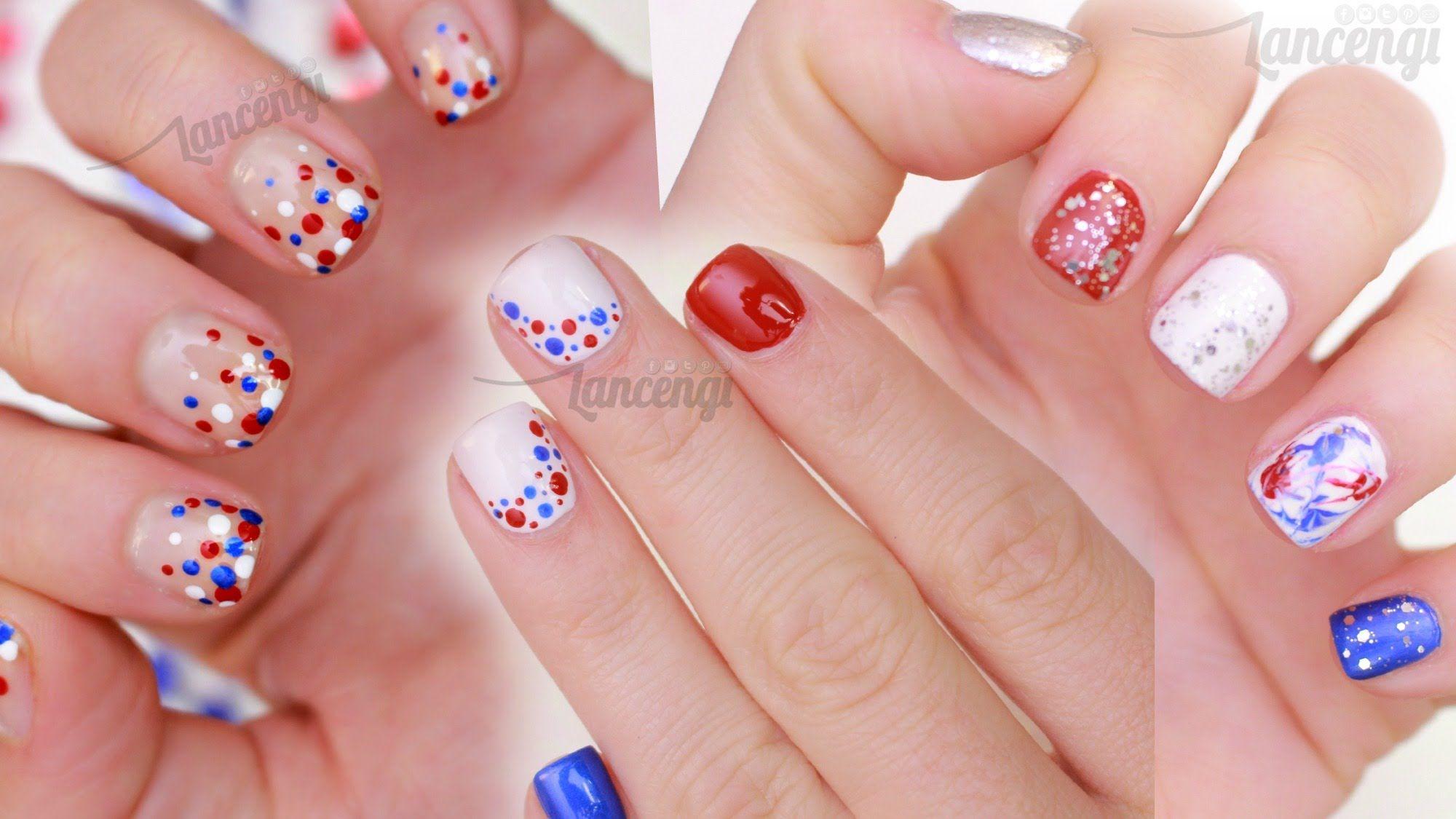 Diy fourth of july nails three cute u easy designs