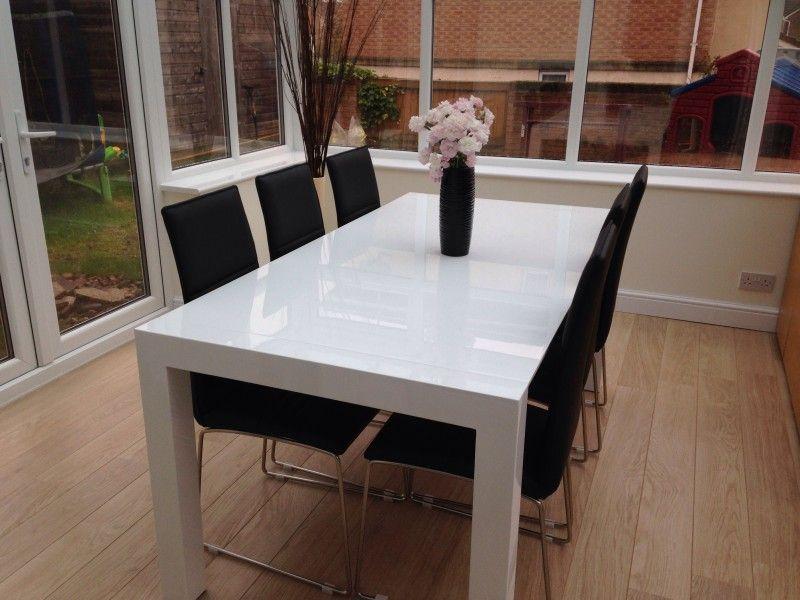 Bramante 6 12 Seat Extending Dining Table White White Extending