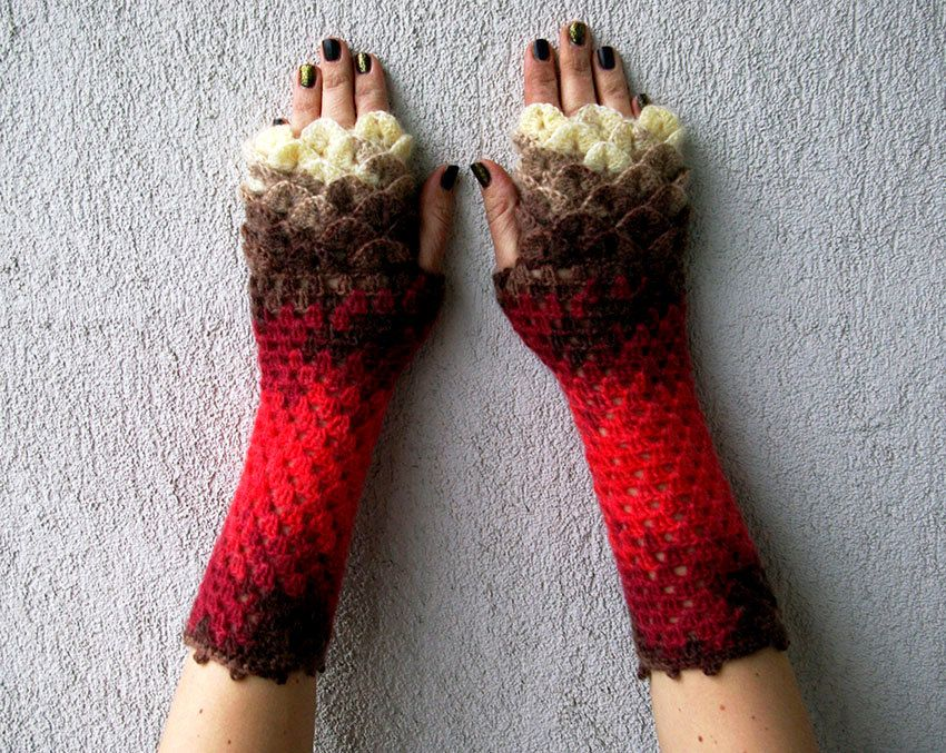 Fingerless Gloves, Knitted Arm Warmers, Hand Warmers, Fall ...