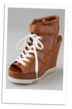 open toe wedge tennis shoes