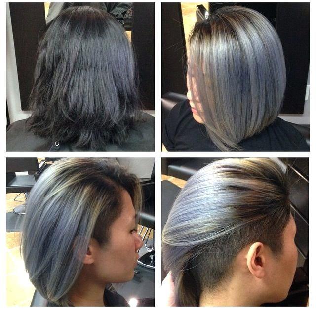 unique short undercut bob hairstyles
