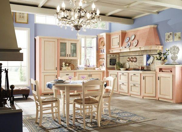 Cucina in frassino tinto corda e struttura in muratura - Struttura cucina in muratura ...