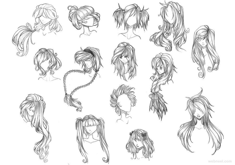 10 Amazing Drawing Hairstyles For Characters Ideas Anime Character Drawing Anime Drawings Anime Hair