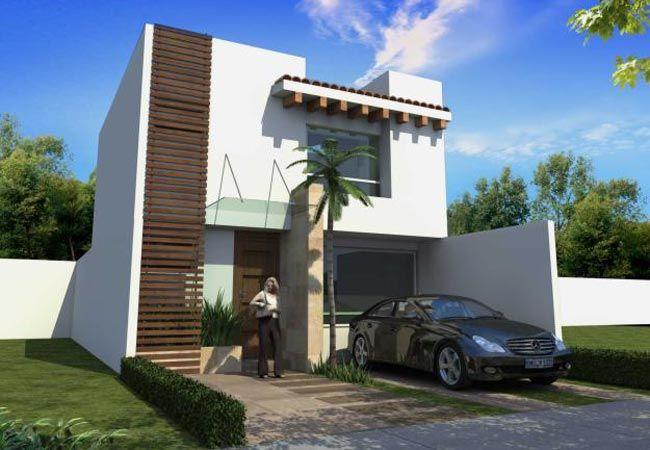 Casas modernas fachadas 14 home design pinterest for Viviendas modernas fachadas