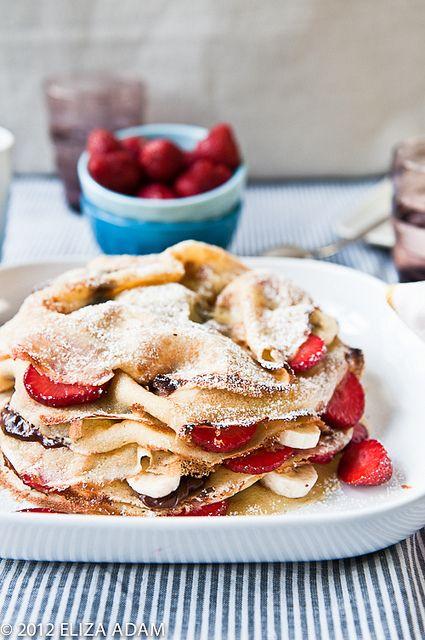 Recipe for Strawberry-Banana Crepe Cake