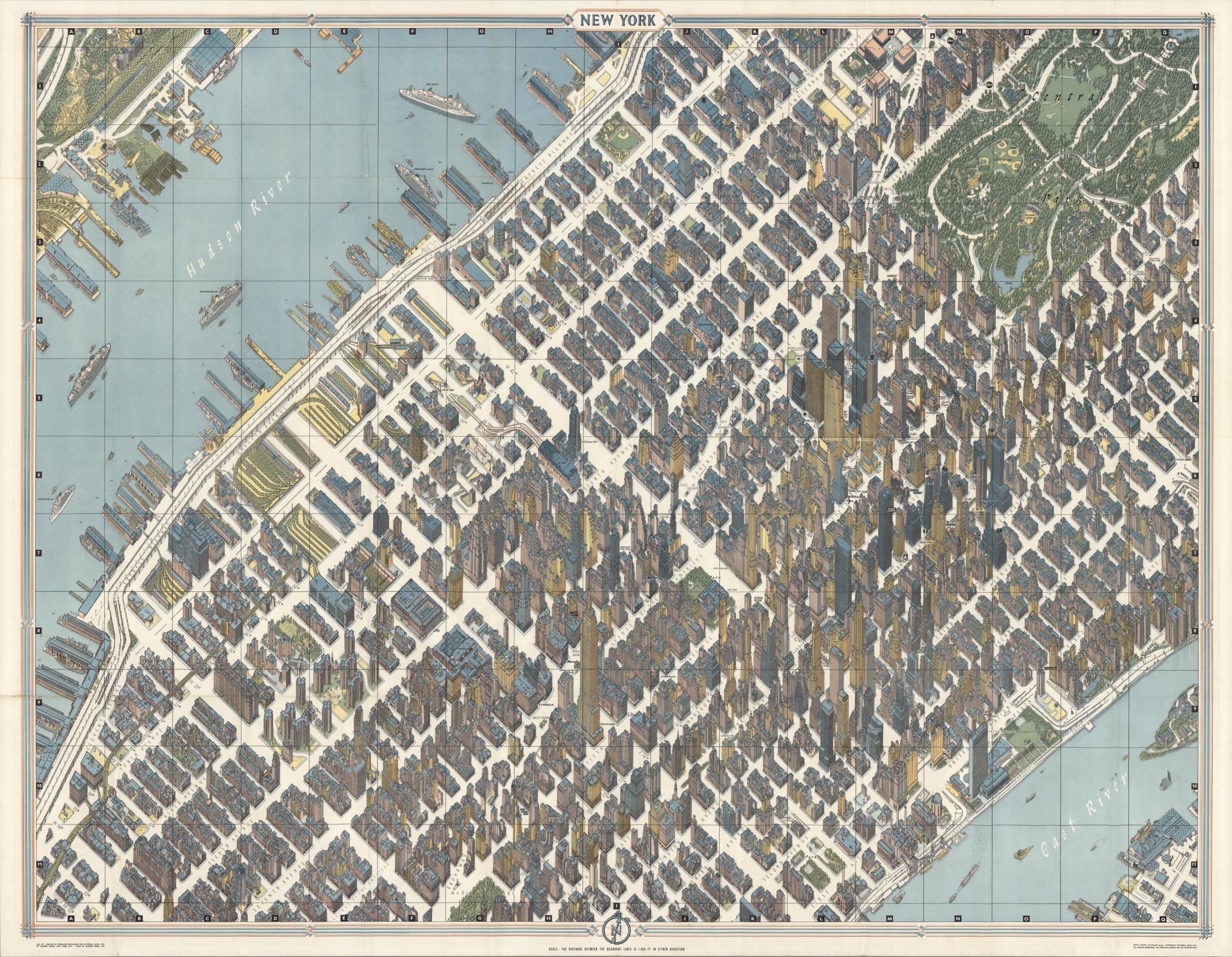 Best Ville Images On Pinterest - New york map restoration hardware