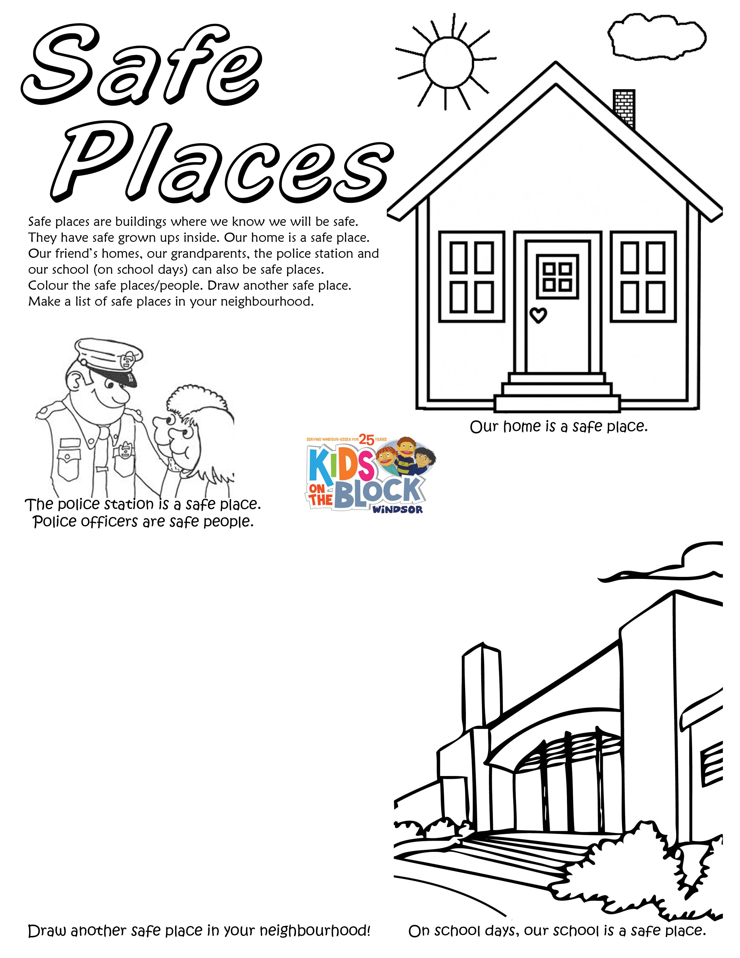 Stranger Safety Worksheet Preschool