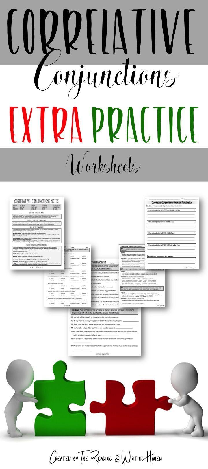 worksheet Correlative Conjunctions Worksheet correlative conjunctions practice worksheets and students worksheets
