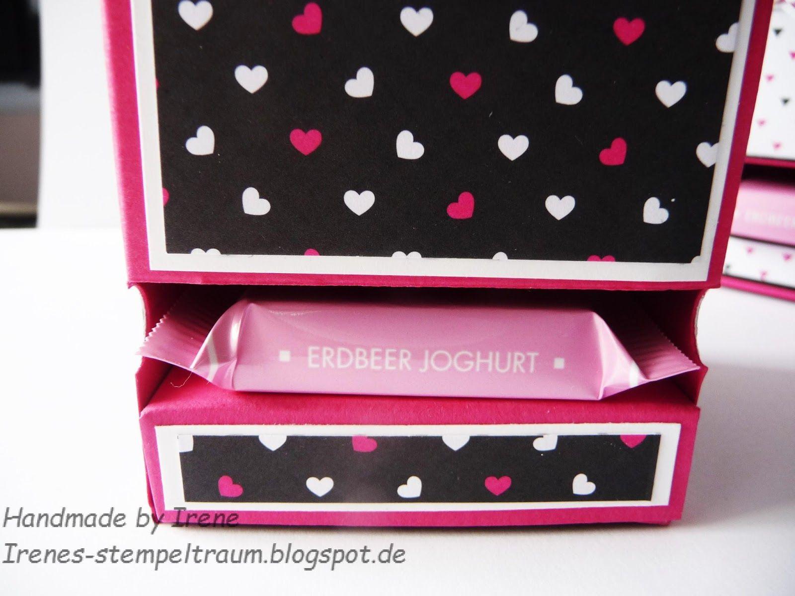 Irenes Stempeltraum: Pink mit Pep Schokobox