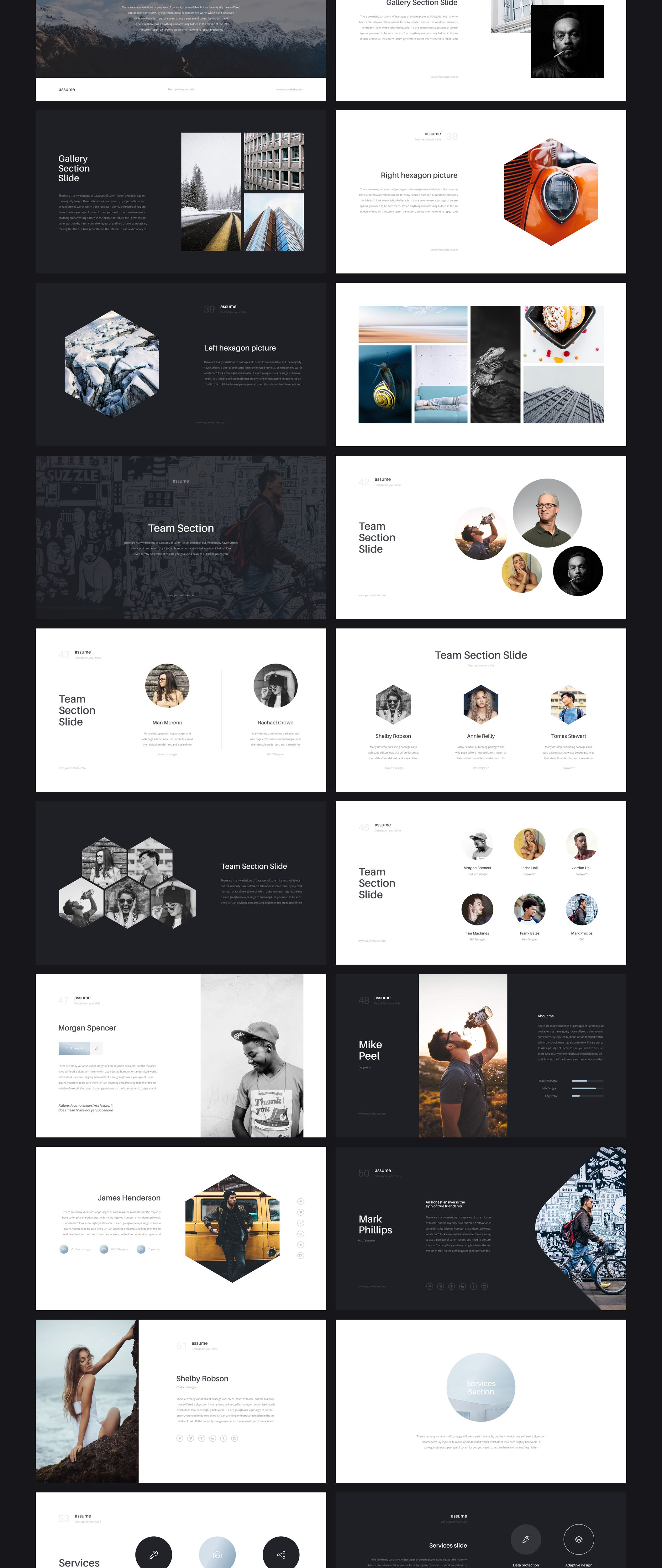Assume is a multipurpose keynote and powerpoint template when assume is a multipurpose keynote and powerpoint template when creating this presentation i focused on ease of use for the bought this presentation toneelgroepblik Choice Image