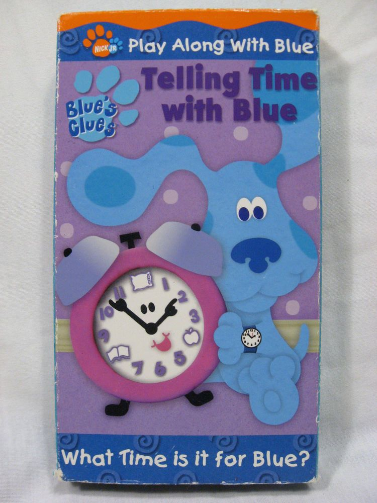 blue s clues vhs telling time with blue blues brian s boutique