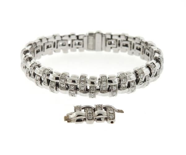 57b05a75c Tiffany &Co 18k Gold Diamond Basket Weave Bracelet Featured in our upcoming  auction on October 20!