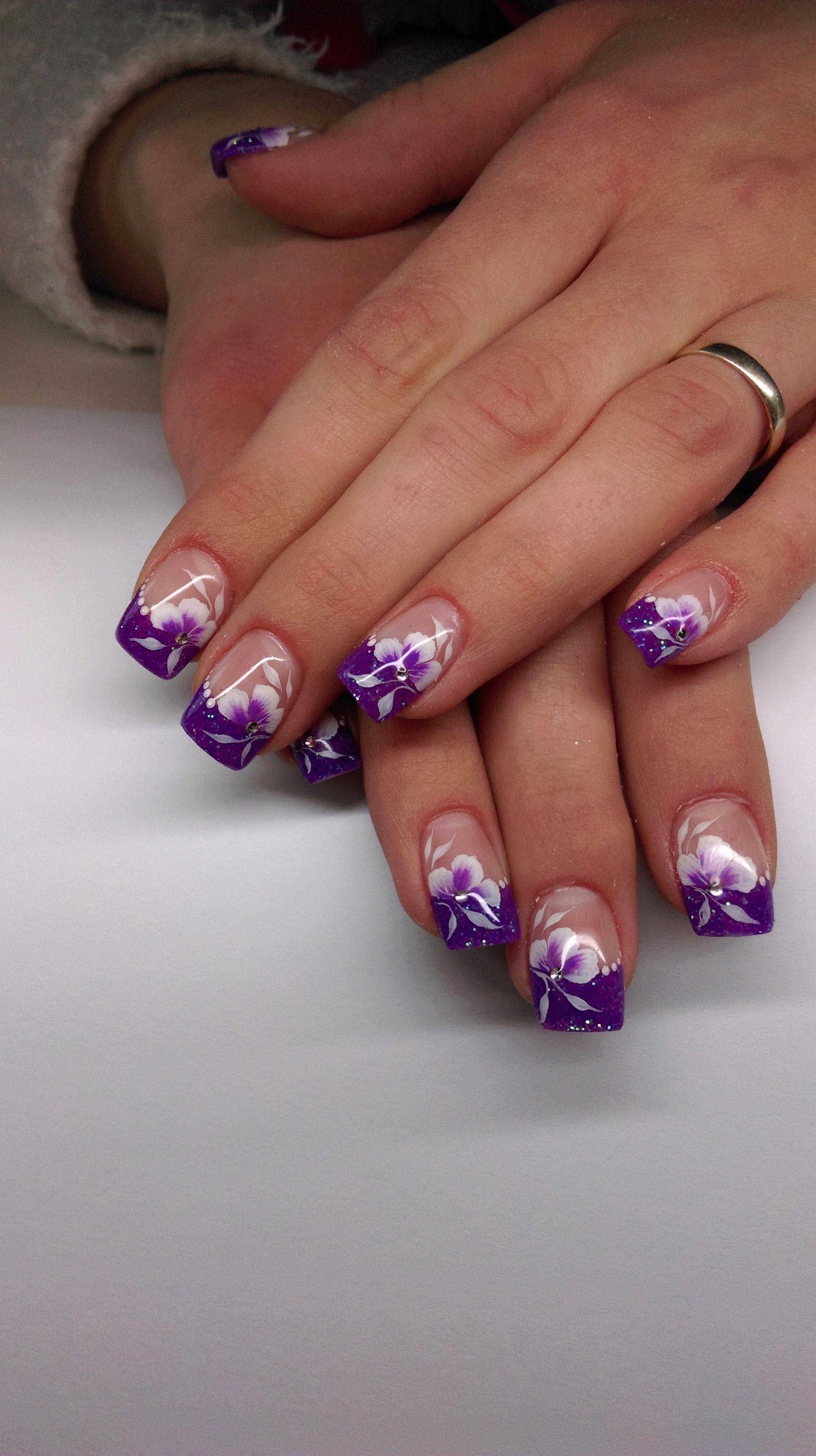 Pin By Judy Pyne On Nails Purple Nail Designs Purple Nail Art Designs French Nail Designs