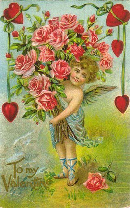 Открытка, день открытки старые валентина