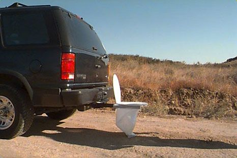 Trailer Hitch Toilet Seat Cabelas.Bumper Dumper Portable Toilet At The Back Of Your Car Lol
