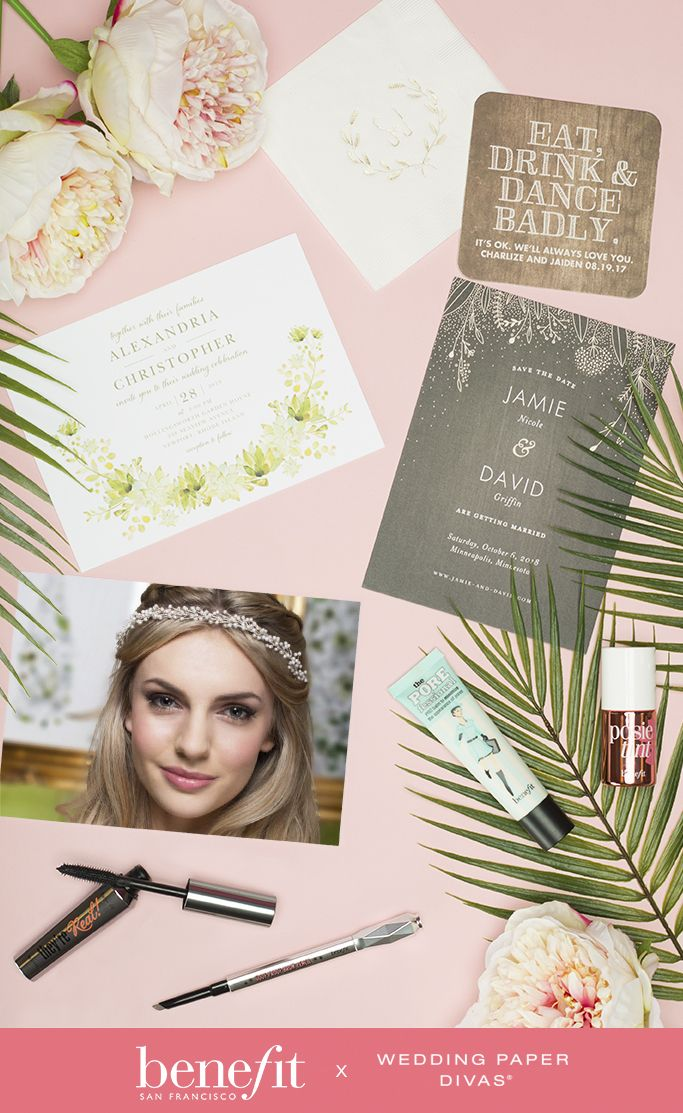 Let Your Natural Beauty Dazzle On Your Wedding Day Live Out Your Dream Wedding With Thes Benefit Cosmetics Wedding Paper Divas Invitations Wedding Paper Divas