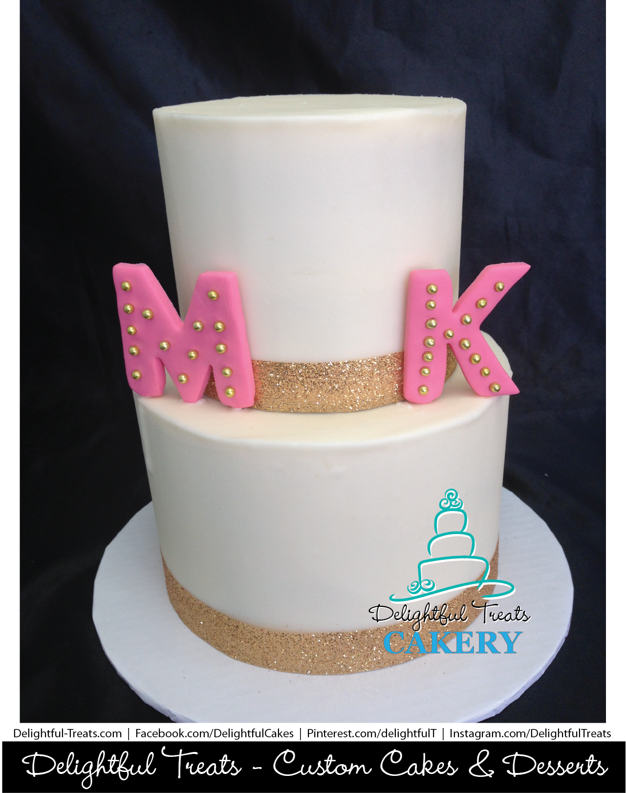 Two Tier Buttercream Dual Birthday Cake By Delightful Treats Cakery