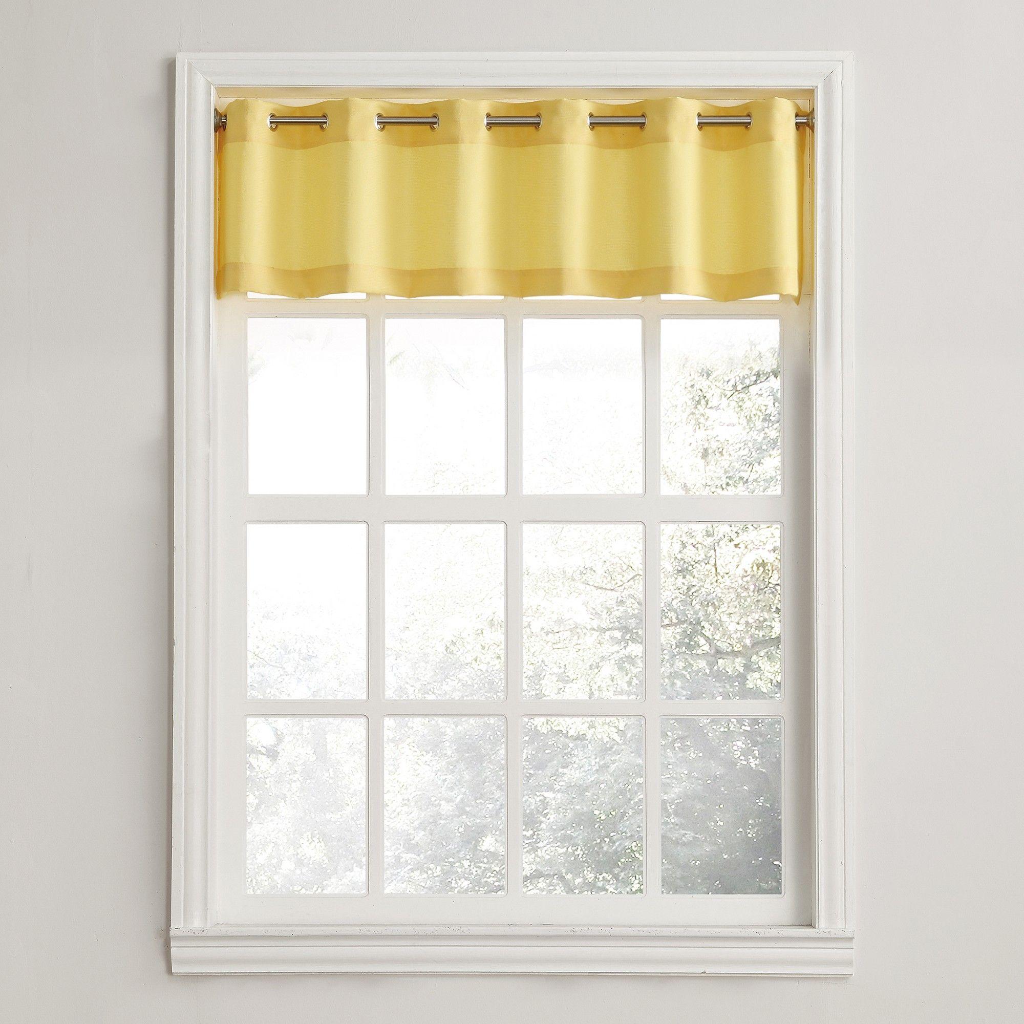 Montego Casual Textured Grommet Kitchen Curtain Valance