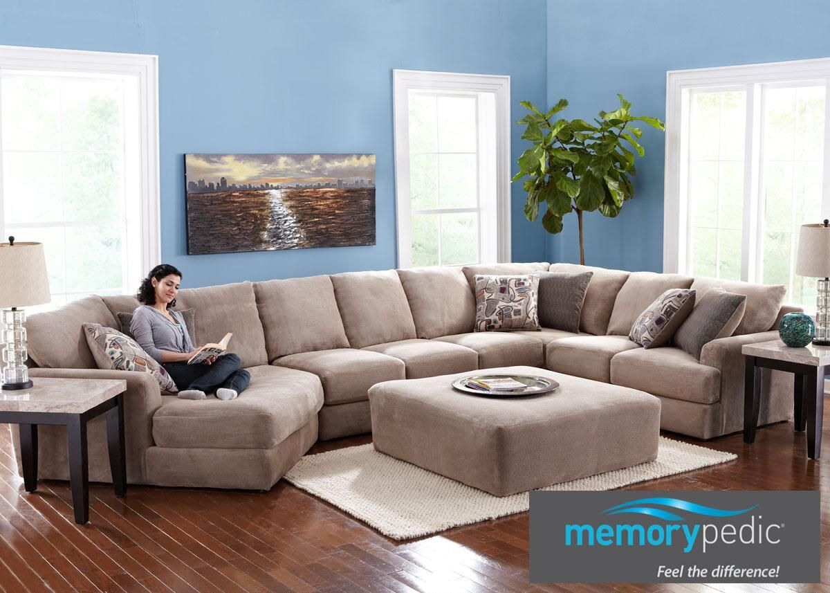 Monterey 3 Pc. (Reverse) Sectional with Cuddler Chaise : sectional couch with cuddler - Sectionals, Sofas & Couches