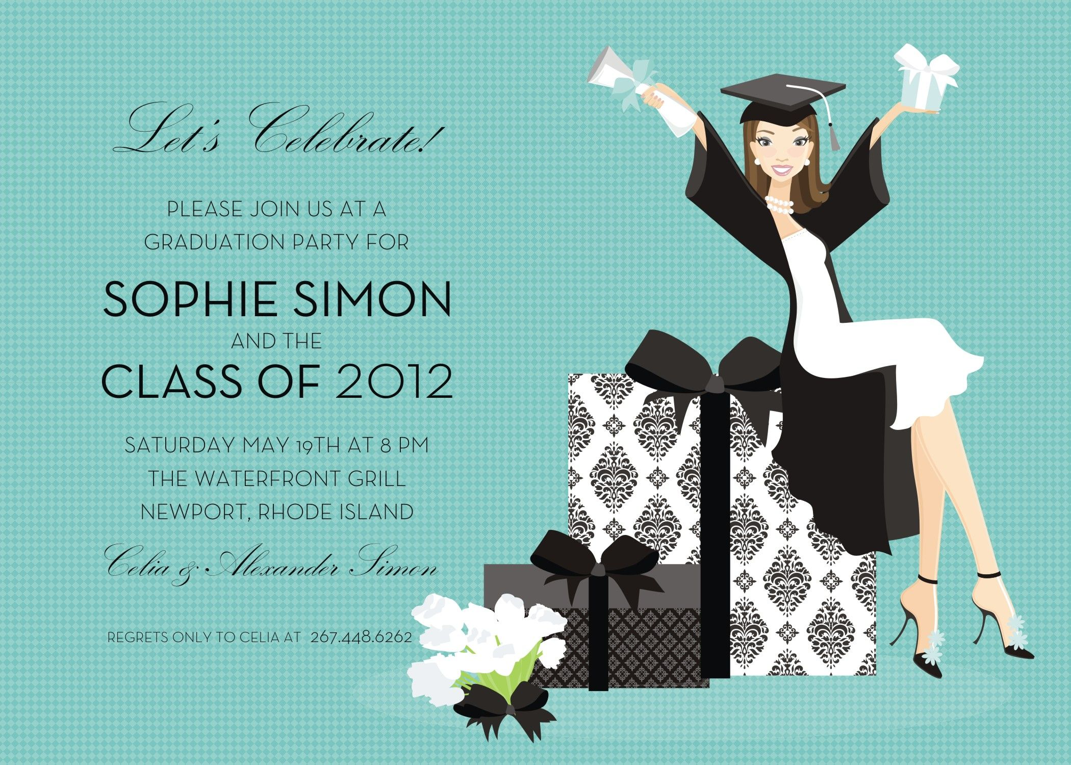 S Girl Graduation  Girls Graduation Invitations  Graduation