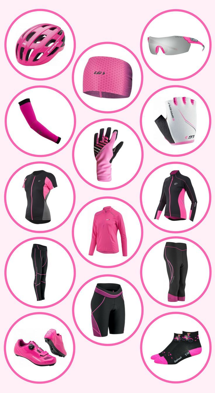 This is a beginners guide to cycling gear. It uses stylishly fabulous pink cycling gear as an exam
