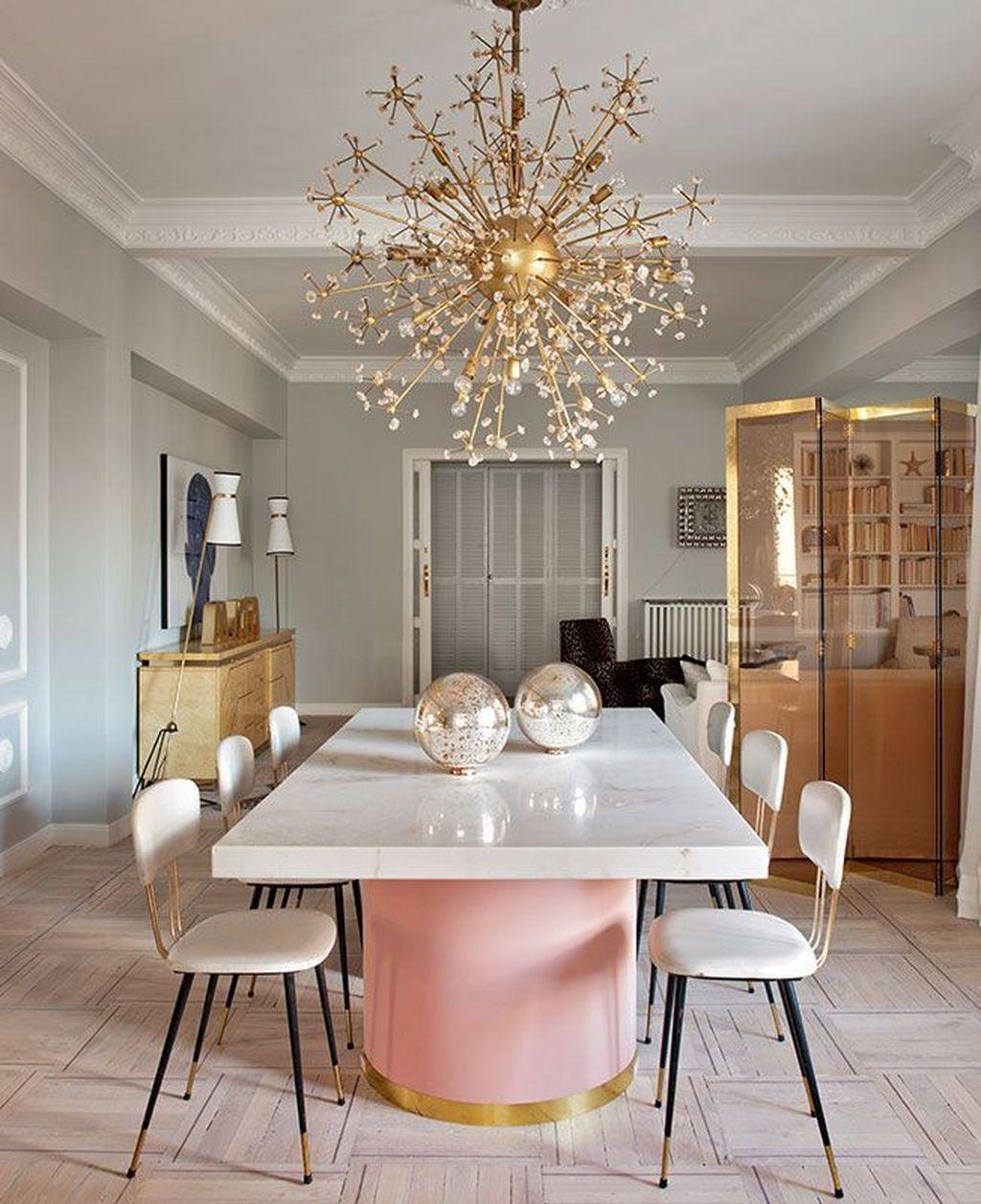 35 Luxury Dining Room Design Ideas: 35 Feminine Dining Room Design Ideas