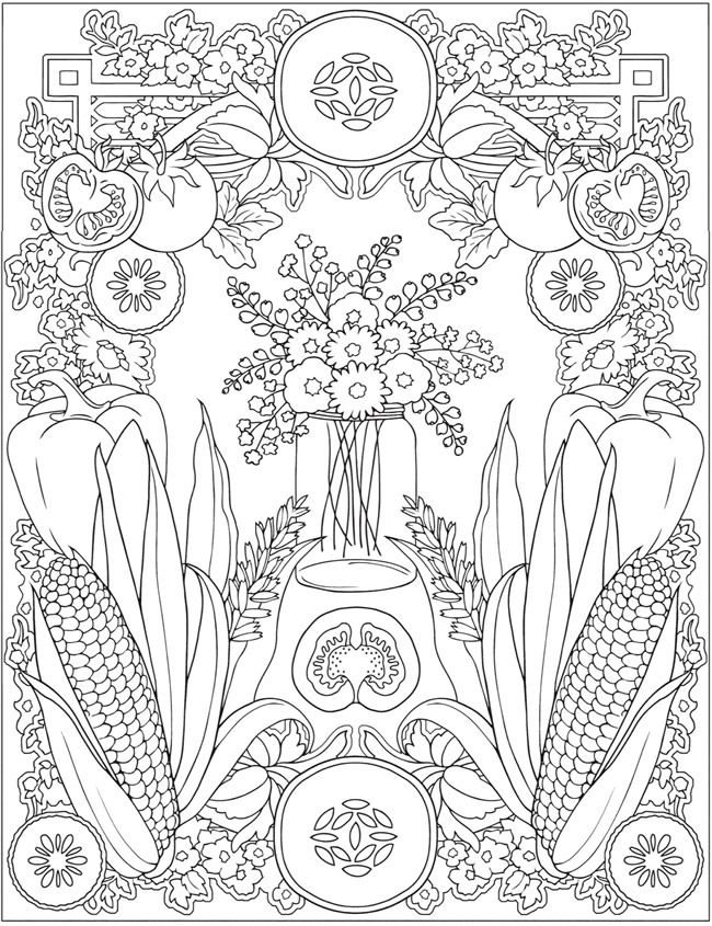 Creative Haven Farmers Market Designs Coloring Book Welcome To