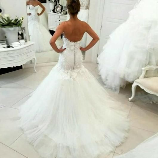 Mermaid Wedding Dress With Corset Back At Bling Brides Bouquet