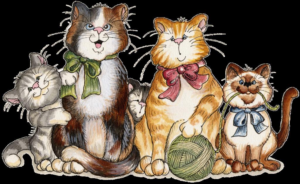 Открытка, картинки кошки прикольные для детей
