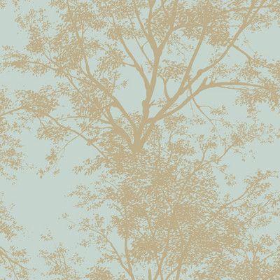 New Modern Glitter Silhouette Tree Wallpaper Green Ivory Arthouse Diamond 259000