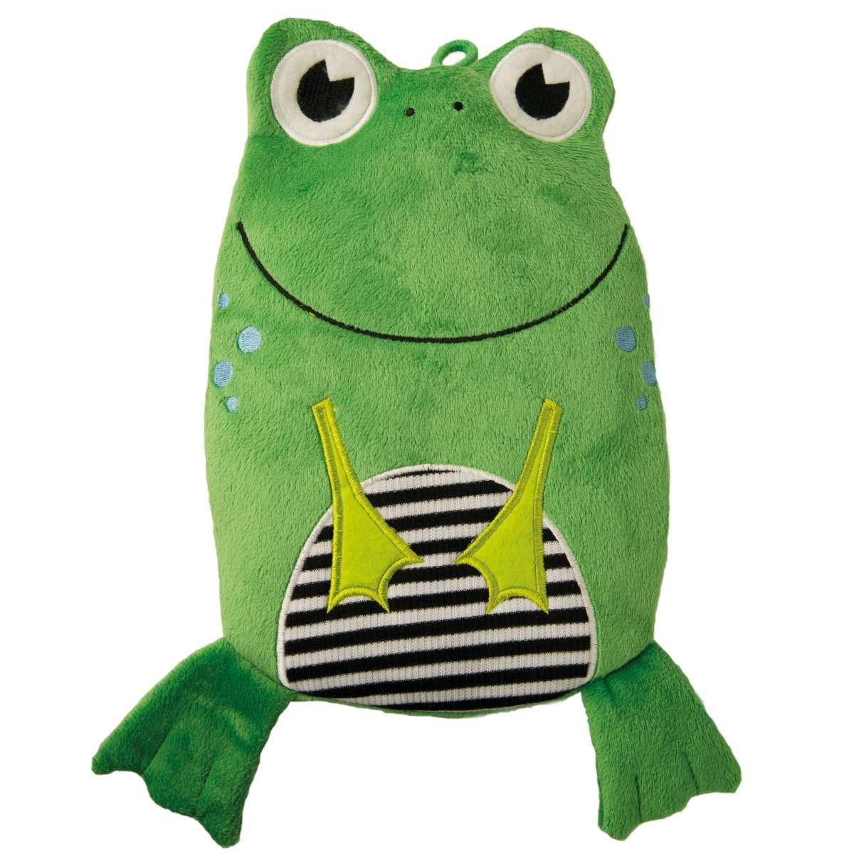 Kinder Oko Warmflasche Frosch Veloursbezug Grun Frosche Warmflasche Baby Design