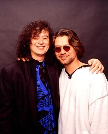 6dcbef5b3c9 Another great pic of Jimmy Page and Eddie Van Halen