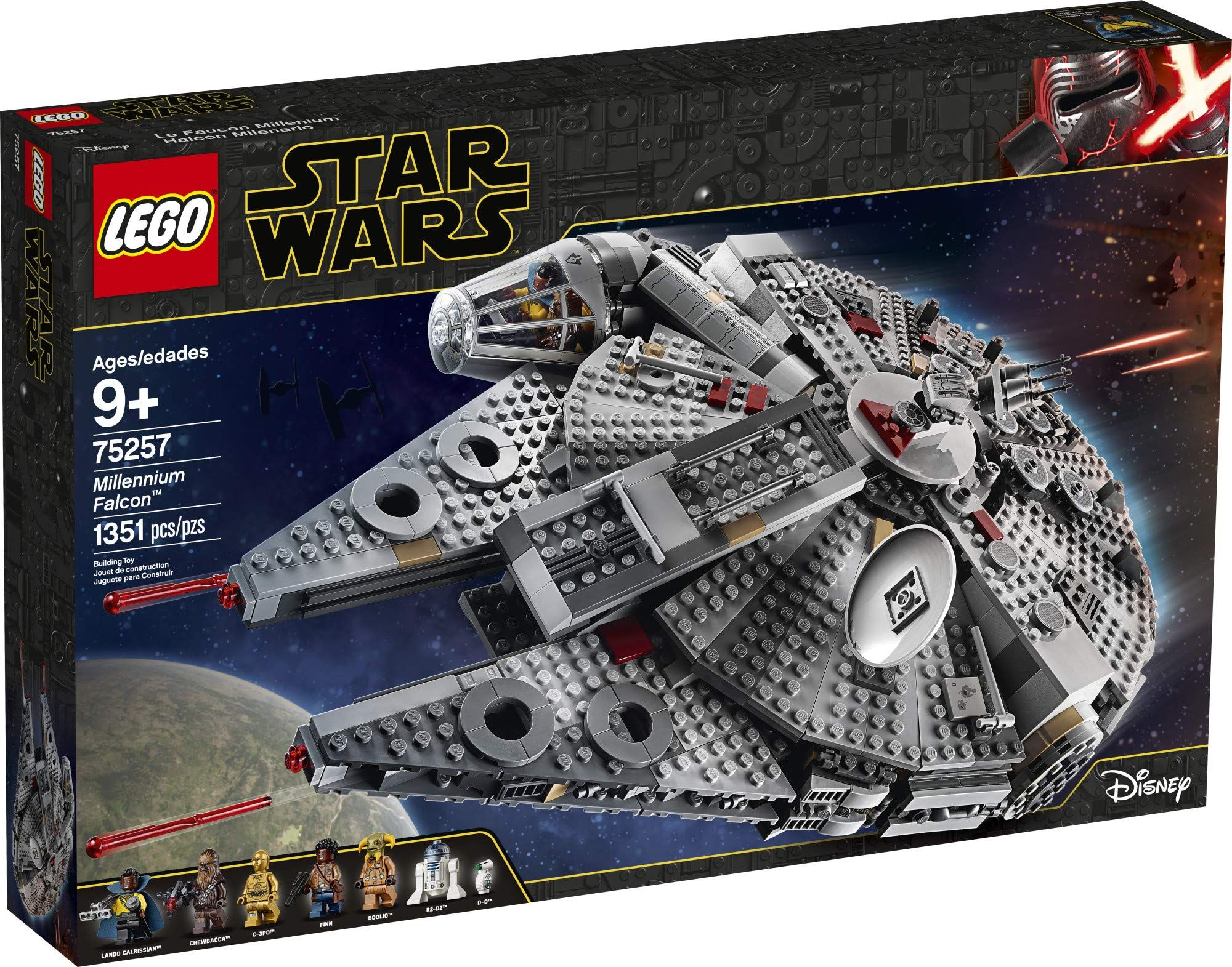 Lego Star Wars The Rise Of Skywalker Millennium Falcon 75257 Starship Model Building Kit And Minifigures 1 351 Pieces In 2021 Lego Star Wars Sets Lego Star Wars Lego Star