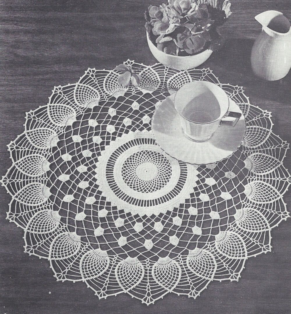 Vintage Crochet Pattern To Make Doily Centerpiece Mat Sheer ...