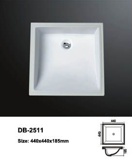 Small Bathroom Undermount Sinks product name: ceramic undermount basin model no.: db-2509