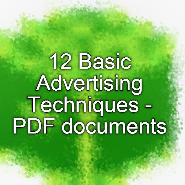 Basic Advertising Techniques  Pdf Documents  Memberships