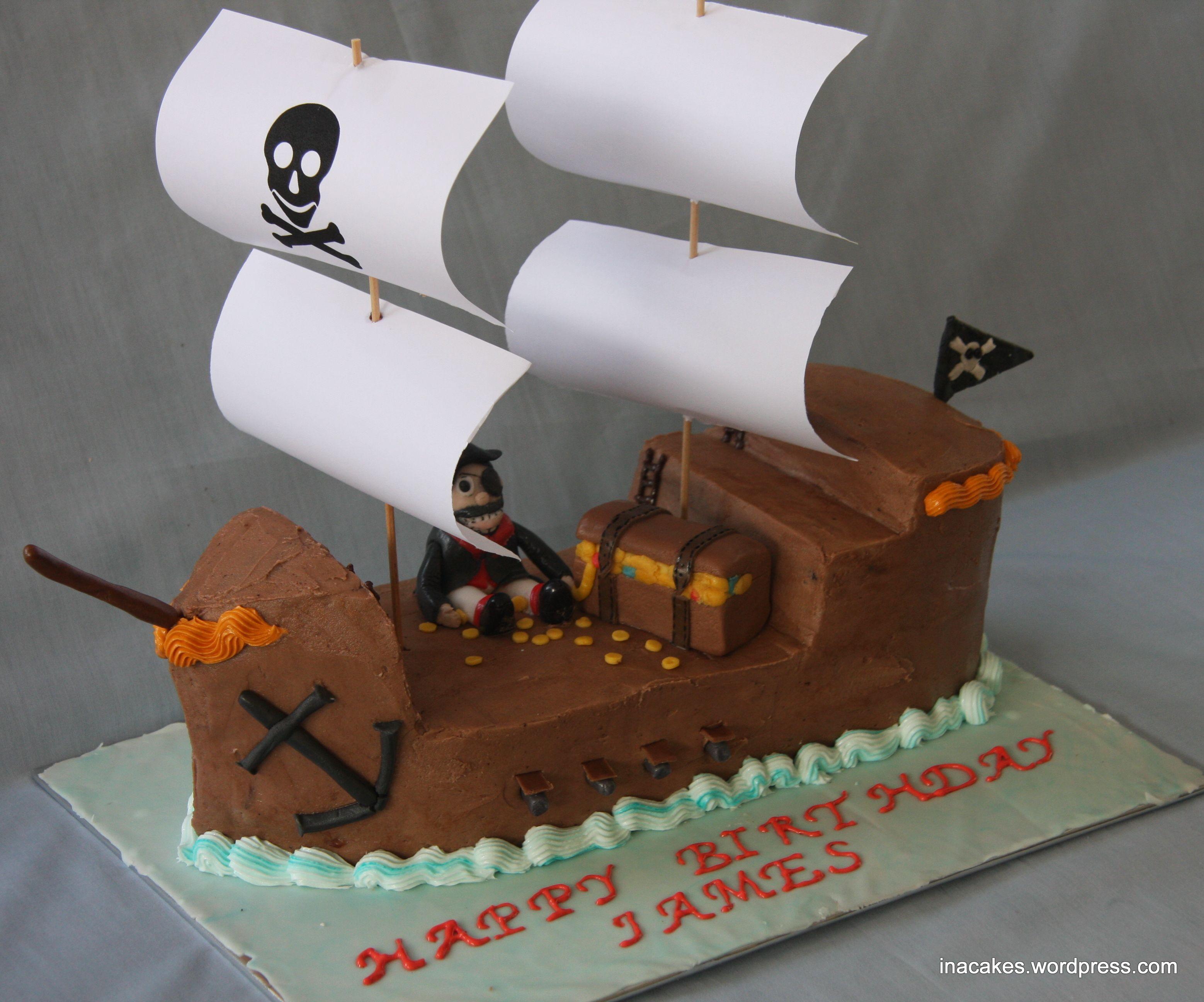 pirate ship cake easy