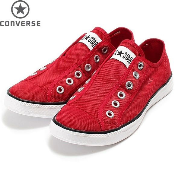 Converse Shoes Converse red mesh Chuck It slip on sneakers