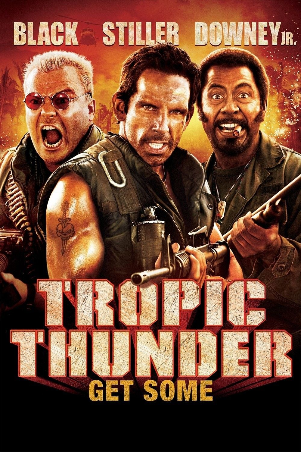 Tropic Thunder Robert Downey Jr Was Great I Hated It The First Time I Saw It But Now It S One O Tropic Thunder Movie Comedy Movies Full Movies Online Free
