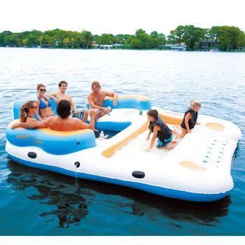 Costco Aqua Float Cruise Island Inflatable Lake Fun Water Fun