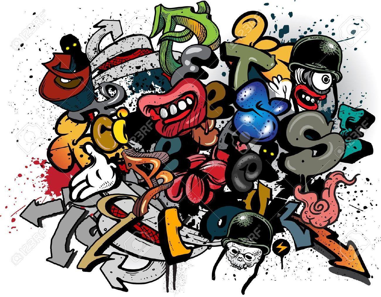 Graffiti Dibujos Animados Imagenes De Archivo Vectores Graffiti