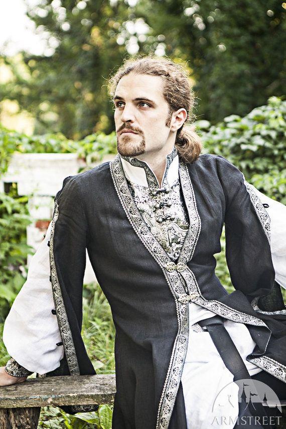 10 DISCOUNT! Mens Medieval Surcoat; mens overcoat