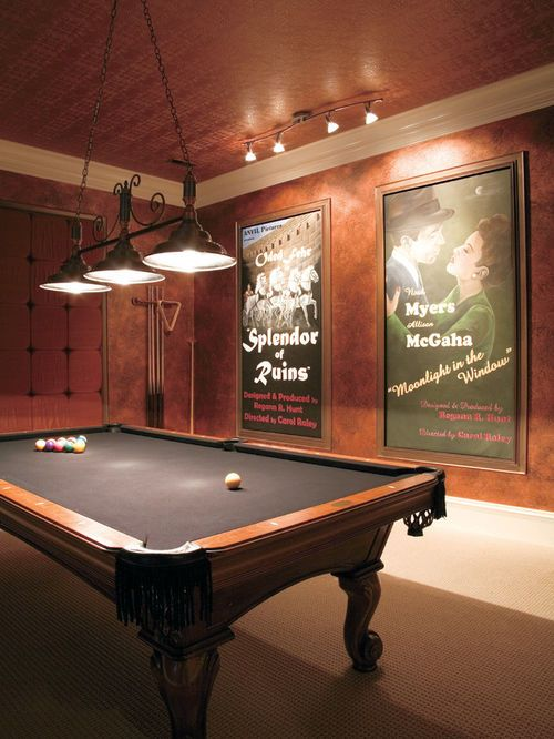 Finished Basement Ideas That Go One Step Further Billiards Room
