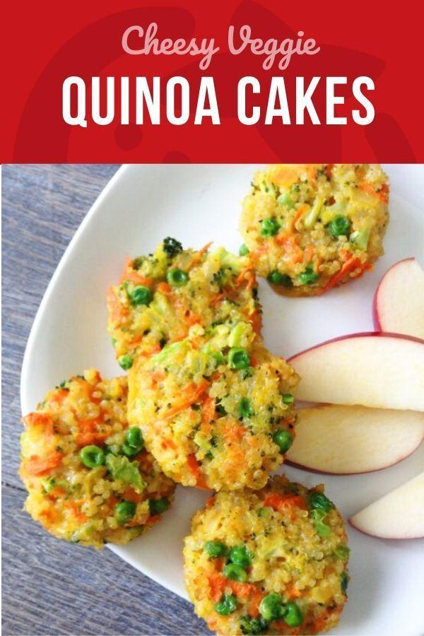 Cheesy Veggie Quinoa Cakes ,  Cheesy Veggie Quinoa Cakes ,