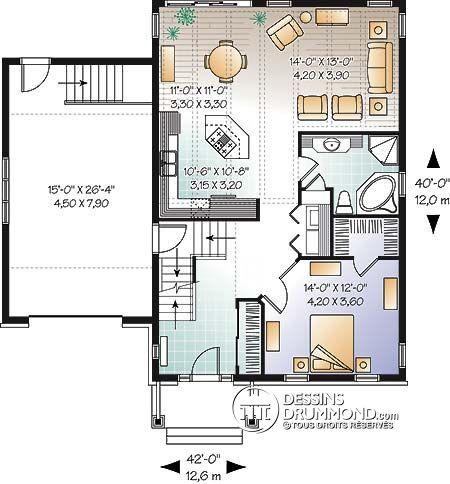 Détail du plan de Maison unifamiliale W3271 architektur Pinterest