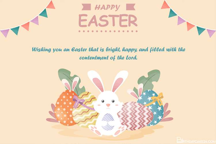 Happy Easter Day Greeting Cards Images With Bunny Happy Easter Card Happy Easter Day Greeting Card Image
